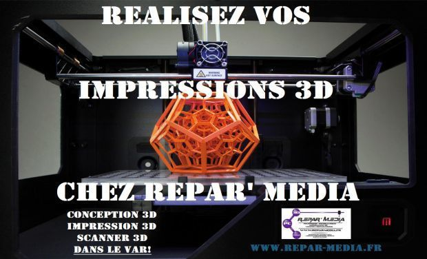 Visueel van project REPAR' MEDIA Developper la Partie Imprimante 3D