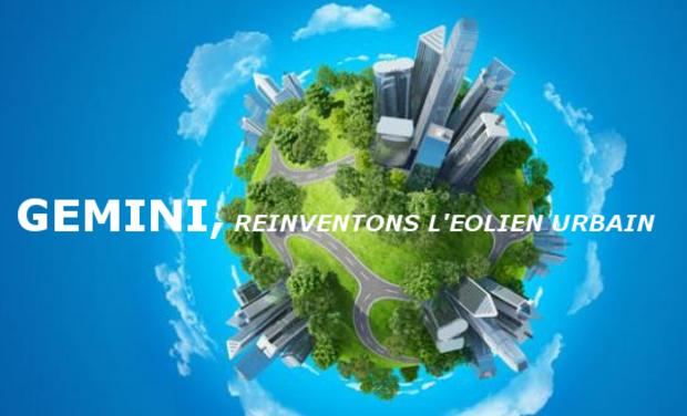 Visuel du projet GEMINI, Réinventons l'éolien urbain