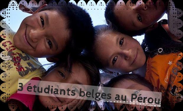 Visueel van project Trois étudiants belges au Pérou