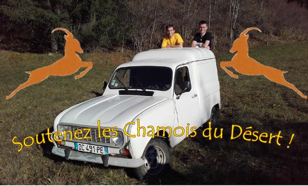 Project visual Les Chamois du Désert - 4L Trophy 2016