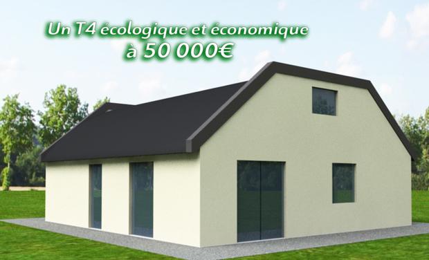 Visuel du projet Construction d'un T4 écologique et économique à 50.000€