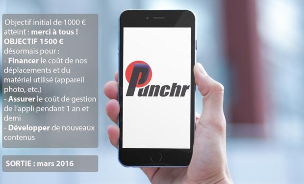 Visuel du projet Punchr, l'appli punchy sur l'actualité sportive