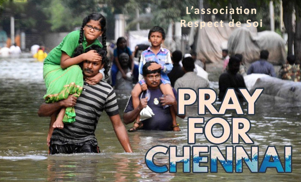 Visueel van project Pray for Chennai - Respect de Soi