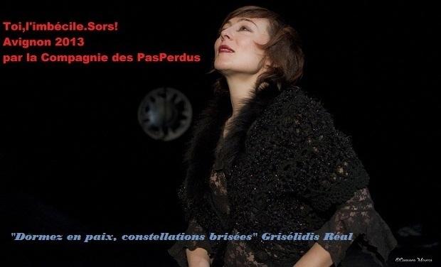 """Visuel du projet """"Toi,l'imbécile.Sors!"""" Avignon 2013 Théâtre"""