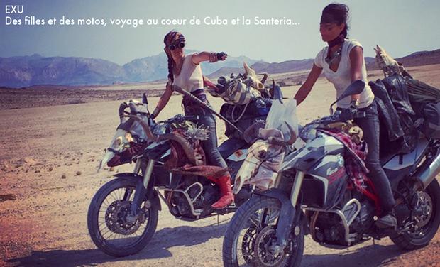 Visuel du projet EXU : Des filles et des motos ! Roadtrip à travers Cuba et la Santeria