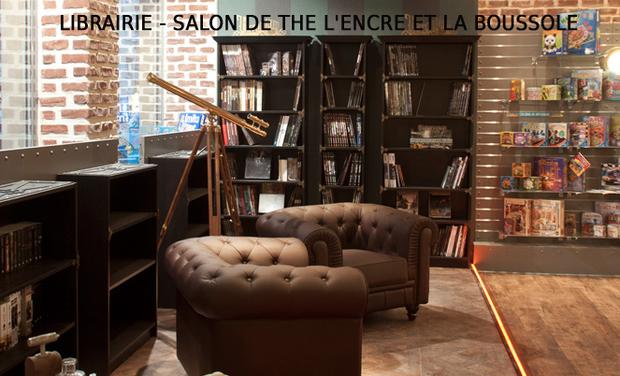 """Project visual Librairie - Salon de thé """"l'Encre et la Boussole"""" à La Tremblade"""
