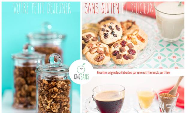 Visuel du projet Cinq Sans - Produits sans gluten, sans lactose, sans oeuf, sans sucre raffiné et sans graisses trans