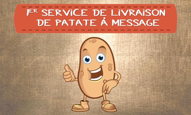 Visuel du projet 1er service de livraison de patates à messages