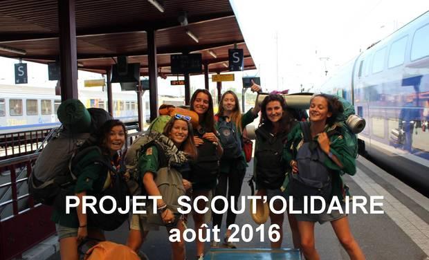 Visueel van project Projet scout'olidaire août 2016