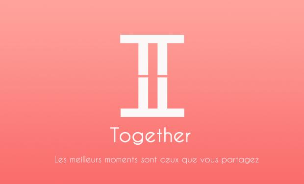 Visueel van project Together, les meilleurs moments sont ceux que vous partagez