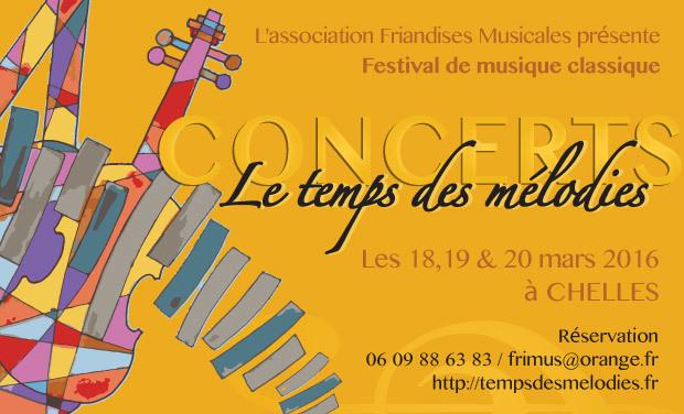 Project visual Le temps des mélodies - Festival de musique classique les 18, 19, 20 mars à Chelles (77)
