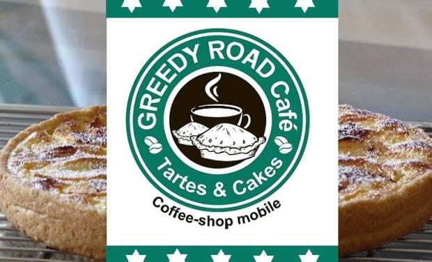 Project visual Le Greedy Road : café gourmand et ambulant