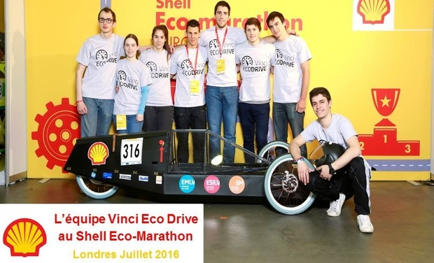 Visueel van project Shell Eco-marathon avec Vinci Eco Drive