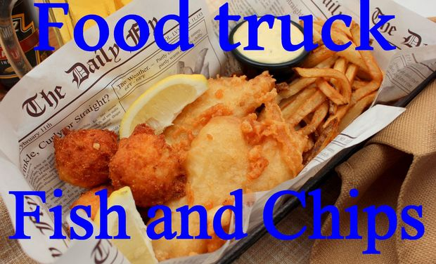 Project visual Food truck / fish and chips