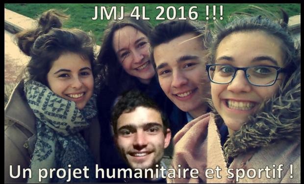 Visuel du projet Aventure JMJ en 4L pour Quentin, Gabriel, Alix, Laetitia et Blandine !!!
