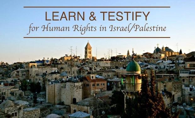 Visueel van project LEARN & TESTIFY - for Human Rights in Israel/Palestine