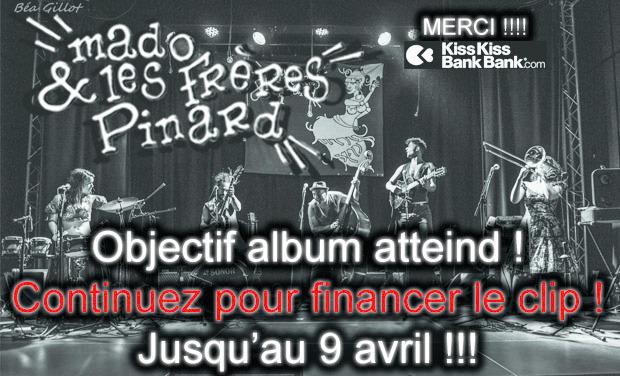 Visuel du projet 1er album studiode Mado & les frères Pinard !
