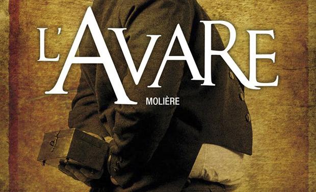 Visueel van project L'Avare au festival d'Avignon