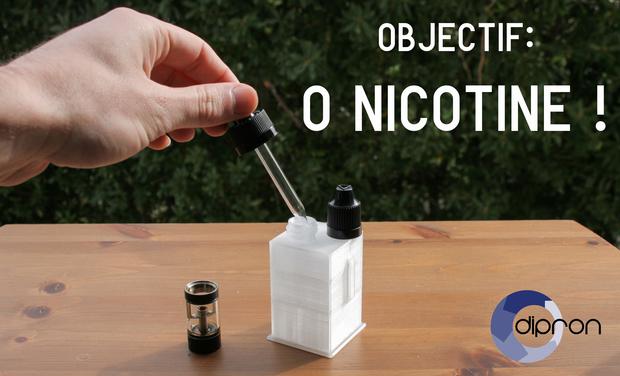 Visuel du projet Dipron pour e-cigarette : objectif 0 nicotine!