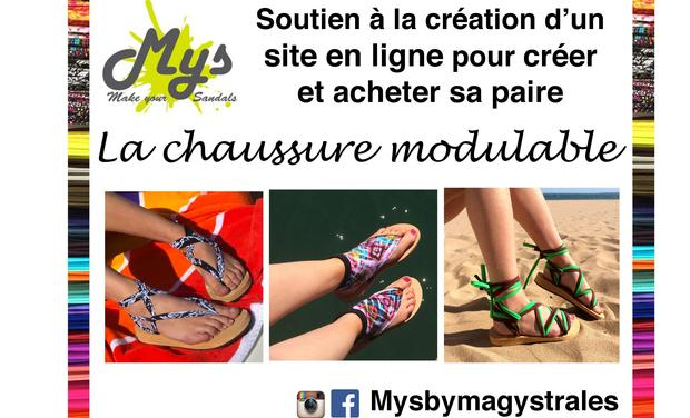 Project visual Mys by Magystrales : la chaussure modulable à souhait