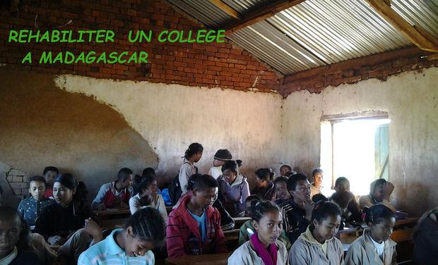 Project visual Réhabiliter un Collège à Madagascar