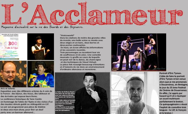 Visuel du projet Magazine : L'Acclameur