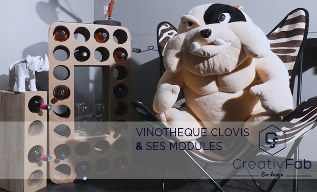 Project visual Creativ'Fab: La Vinothèque Clovis et ses Modules