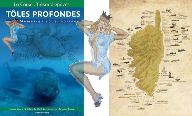 """Visuel du projet La BD des épaves Corse """"Tôles Profondes"""""""