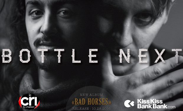 "Visuel du projet Bottle Next : 1er album ""Bad Horses"""