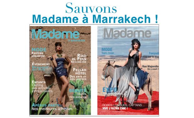 Project visual Madame à Marrakech