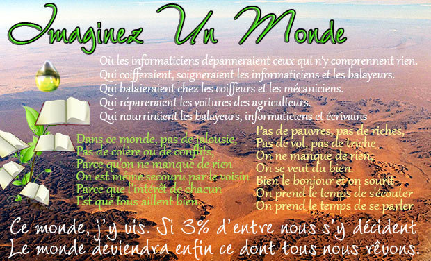 Project visual Imaginez un monde