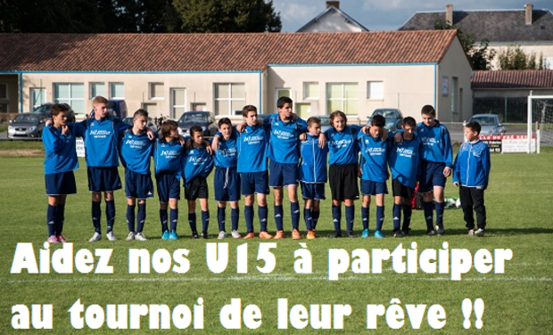 Project visual Aidez nos U15 à participer à un tournoi International