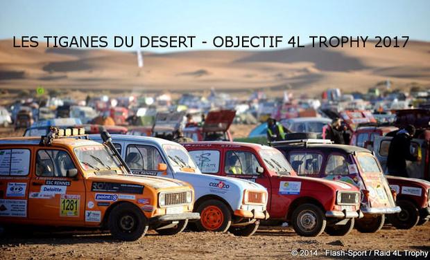 Visueel van project Les Tiganes du Désert, objectif 4L Trophy 2017