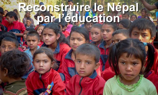 Visuel du projet Reconstruire le Népal par l'éducation