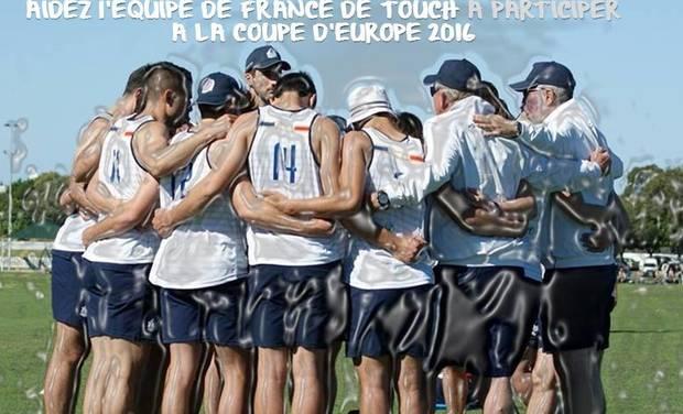 Visuel du projet Participer à la Coupe d'Europe 2016 de Touch Rugby - Equipe de France Men's Open -