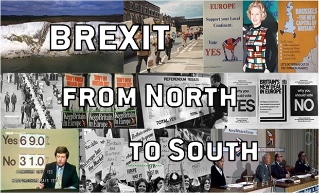 Project visual BREXIT, from North to South