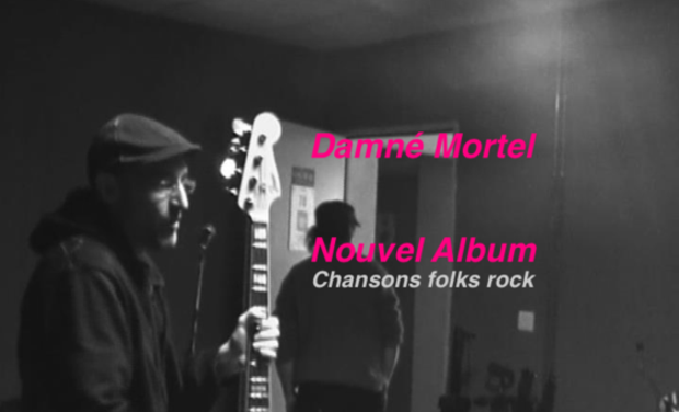 Visueel van project CD dix titres du groupe  Damné Mortel chansons folks rock alternatives