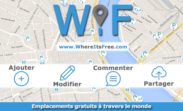 Project visual Emplacements gratuits à travers le monde - WIF