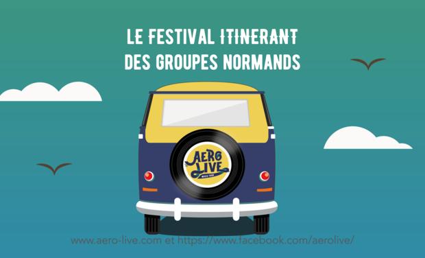 Project visual AeroLive, le festival itinérant des groupes normands
