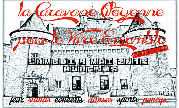 Visueel van project La Caravane Citoyenne pour le Vivre Ensemble @ Aubenas