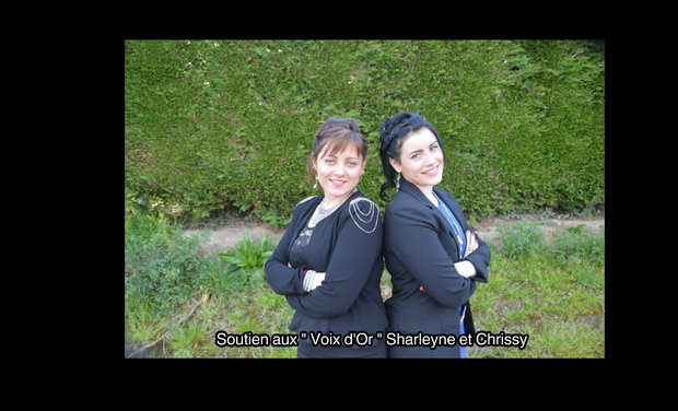 "Visueel van project Soutenons les "" Voix d'Or "" Sharleyne et Chrissy"