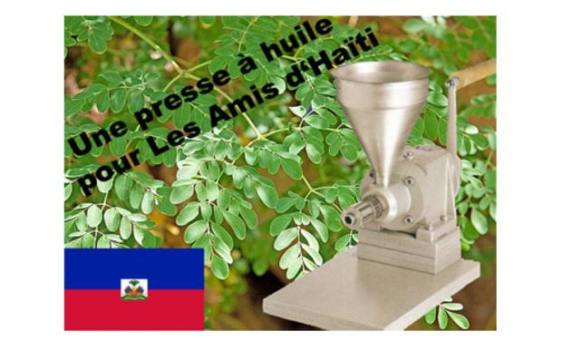 Visuel du projet Une presse à huile pour Les Amis d'Haïti