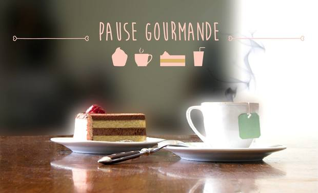 Project visual Pause Gourmande, le nouveau bar a thé