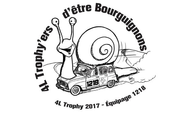 Visueel van project 4L Trophy'ers d'être Bourguignons / Equipage 1218