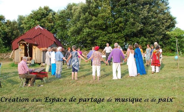Visuel du projet Création d'un espace de partage de musique et de paix
