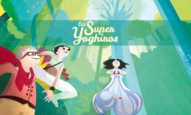 Visueel van project Les Super Yoghiros en Amazonie, le livre.