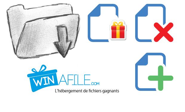 Visueel van project WINAFILE: l'hébergement de fichiers gagnants