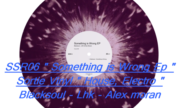 "Visuel du projet Nouveau Vinyl -SSR06 - Blacksoul - Lhk - Alex moran "" Something is Wrong Ep """