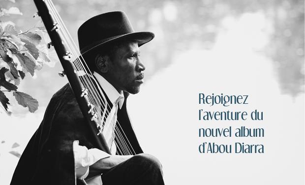 Visuel du projet Entrez dans l'aventure et participez à la sortie du nouvel album d'Abou Diarra