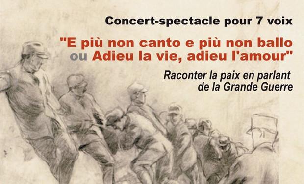 "Visueel van project Concert-spectacle ""E più non canto..."""